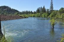 Rogue River being released from the second dam at Lost Creek Reservoir